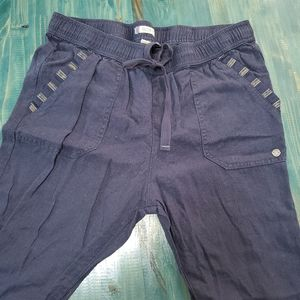 Roxy blue Drawstring pants ankle medium EUC